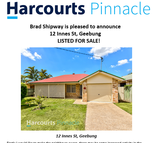 Just Listed Example Brad Shipway Geebung Real Estate