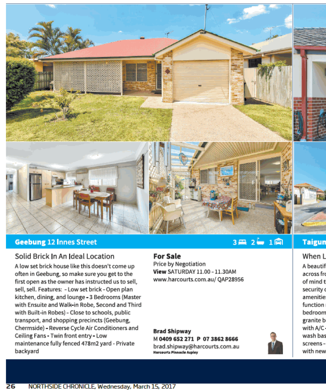 Northside Chronicle Brad Shipway Geebung Real Estate
